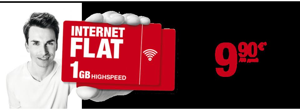 Безлимитный интернет в Германии Internet Flat 1