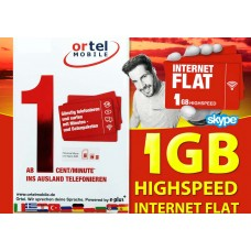 Сим карта OrtelMobile тариф Internet Flat 1 GB в Европе.