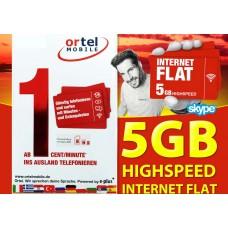 Сим карта OrtelMobile тариф Internet Flat 5 GB в Европе.
